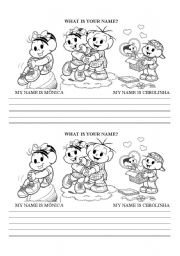English Worksheets: What is your name?