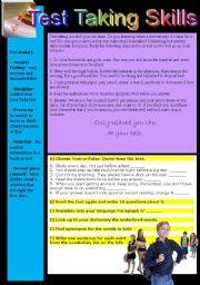 English worksheet: Test Taking Skills
