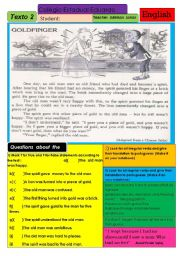 English Worksheets: Goldfinger