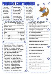English Worksheet: PRESENT CONTINUOUS (1)