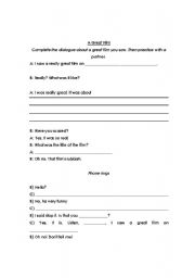 English Worksheets: A great film
