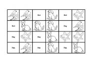 English Worksheets: Pet�s Domino (16 Cards)