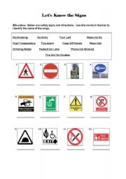 Worksheets Safety Sign Worksheets english worksheet safety signs