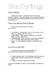 Printables Bullying Worksheets For Kids english teaching worksheets bullying what is bullying