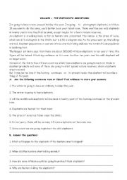 English Worksheets: Readind about wild life