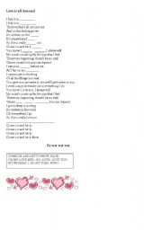 English worksheet: love is all around