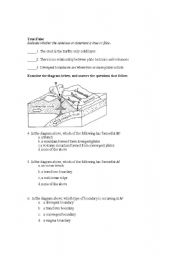 English Worksheet: Landforms test