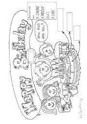 English Worksheet: HAPPY BIRTHDAY TOM