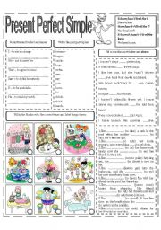 English Worksheets: PRESENT PERFECT SIMPLE