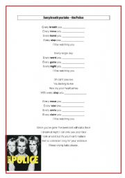 English Worksheet: every breath you take - the police