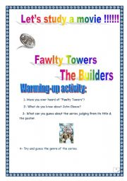 Fawlty Towers series: The Builders (episode n°2): COMPREHENSIVE PROJECT: 15 PAGES  (6 p.+ complete key), 33 tasks.