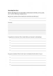 English Worksheet: Summarize a new article