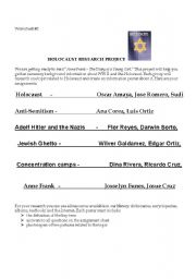 English Worksheet: Anne Frank /Holocaust worksheets set 3 / 10 pages