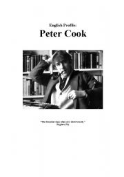 English Worksheets: Peter Cook