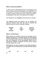English Worksheets: Discourse markers