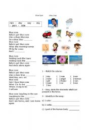 English Worksheet: Elton John - Blue Eyes