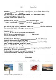English Worksheet: High - James Blunt