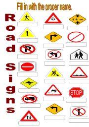 road signs worksheet free worksheets library download and print worksheets free on comprar. Black Bedroom Furniture Sets. Home Design Ideas