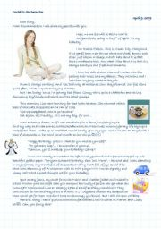 English Worksheet: Rachel�s diary