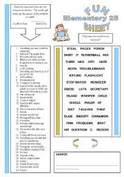 English Worksheets: Fun Sheet Elementary 25