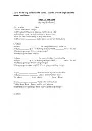 English worksheet: Song: This is the life by Amy Macdonald