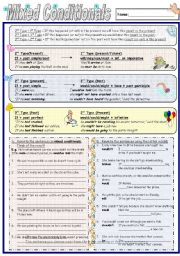 English Worksheets: Conditionals: Mixed types