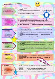 English Worksheets: PROBLEM WORDS