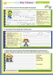 English Worksheet: Writing series (3)  -