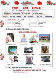 English Worksheets: FOR   and  SINCE  : How long have you had / been  / known  .......?