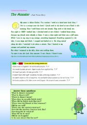 Loch Ness Monster - story + 11 exercises - RLSW + would... Colour / BW ((8 pages))