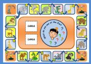 English Worksheets: IN THE ZOO - BOARD GAME (PART 1)