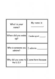 English Worksheets: Question and Answer Matching