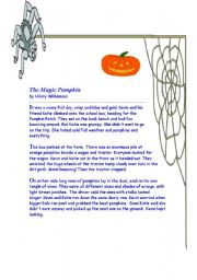 worksheet: Halloween (story and puzzles)