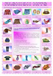 English Worksheet: Fashion hits