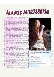 English Worksheet: Alanis Morissette