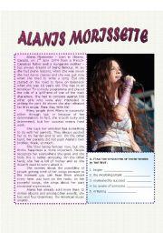 English Worksheets: Alanis Morissette