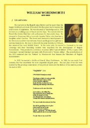 English Worksheets: William Wordsworth (Romantic Poet) Life and Works