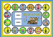 English Worksheet: WHAT ARE THEY DOING? - BOARD GAME (PART 1)