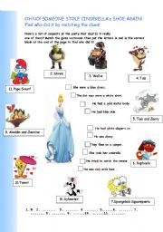 SIMPLE PAST TENSE- Find Cinderella´s shoe!
