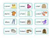 Clothes domino (editable)