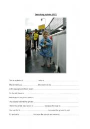 English Worksheets: PET speaking Describe a photo