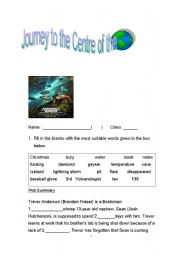 Journey to the Centre of the Earth - ESL worksheet by yingying