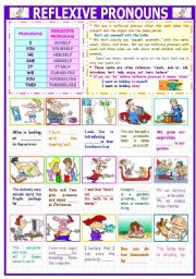 English Worksheet: REFLEXIVE PRONOUNS