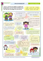 English Worksheet: Dialogue series  -