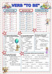 English Worksheets: VERB