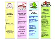 English worksheet: WRITING FRAMEWORKS - BOOKMARKS PART 1