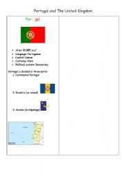 English Worksheet: Portugal and the United Kingdom part 1