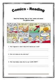 English Worksheets: Comics - Reading Activity - 12