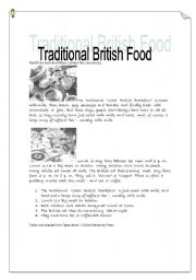 traditional British Food -