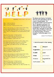 English Worksheets: The Beatles - Help